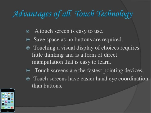 applications of touch screen technology