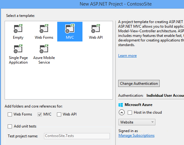 asp net web forms application