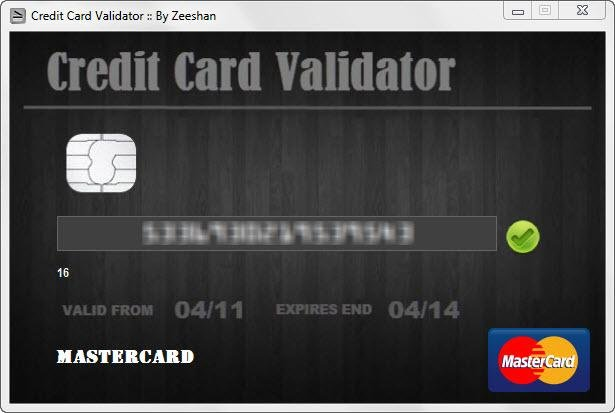 authorisation to confirm a valid card application