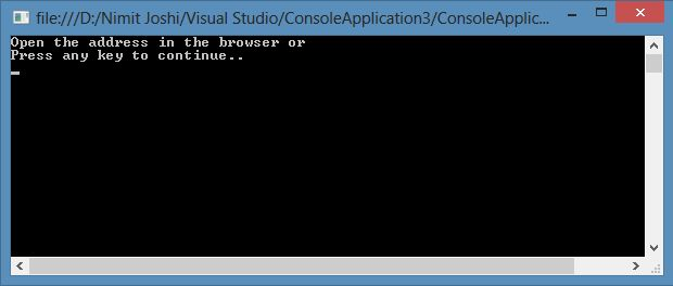 asp net core console application
