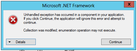 unhandled exception has occurred in your application windows 7