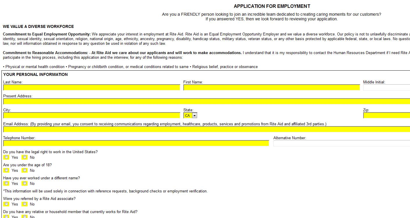 coles online application for employment