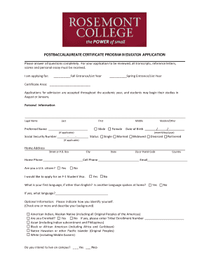 continuous discharge certificate application form