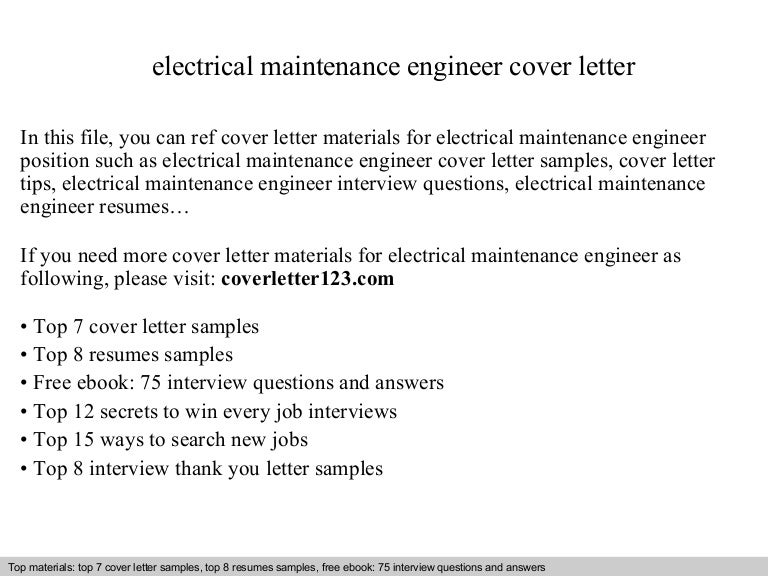 covering letter for electrical engineering job application