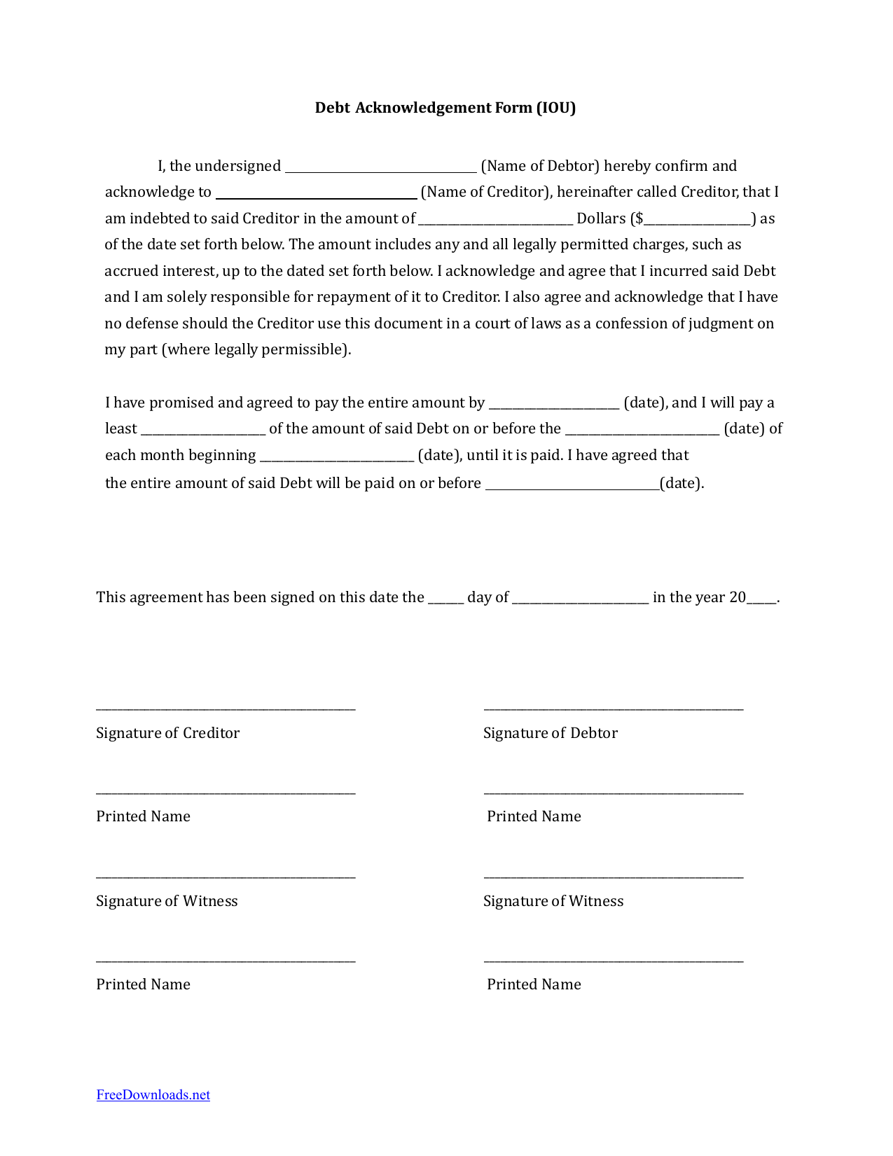 name of creditor application to rent