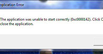 outlook the application was unable to start correctly 0xc0000142