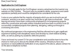 job application for civil engineer