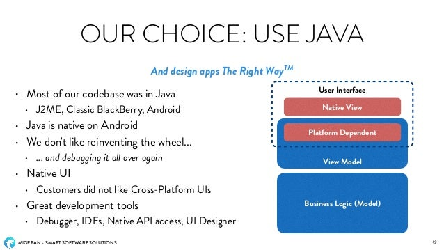 how to develop an mobile application using java