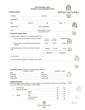 duke of edinburgh application form