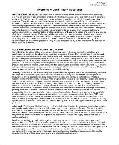 duties and responsibilities of application programmer