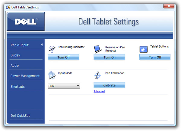 what is dell quickset application