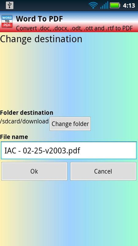 open doc file in android application