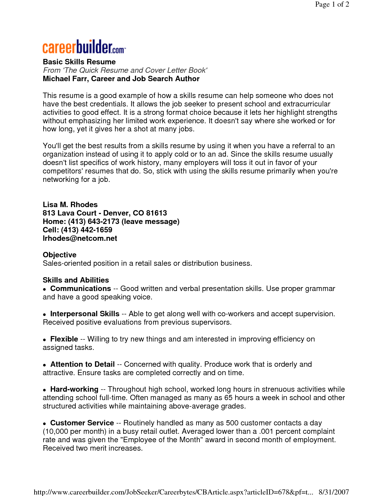 list of computer applications for resume