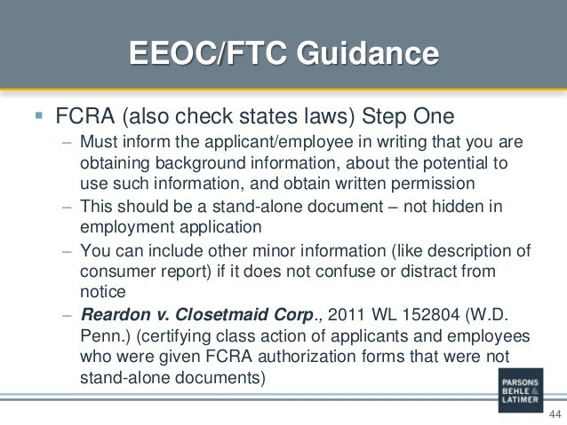 employment application background check permission