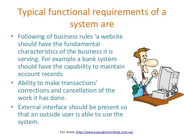 example non functional requirements for web application