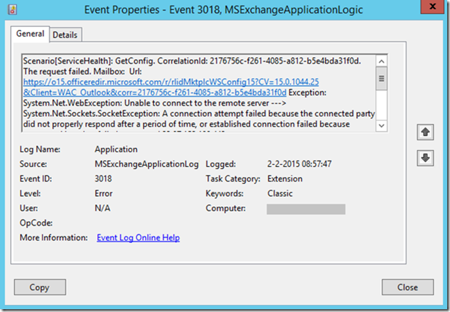 event id 5000 msexchange management application