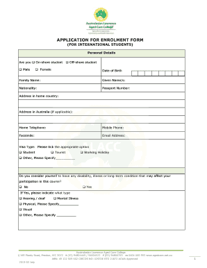 rmit application form for international students