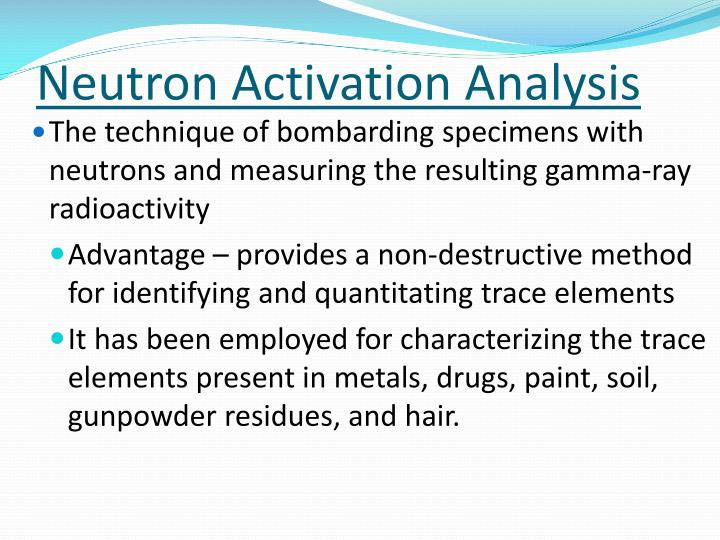 applications of neutron activation analysis