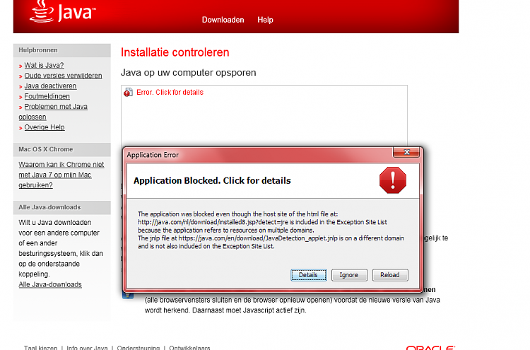 application blocked by java security mac