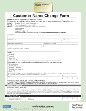 change of name application qld