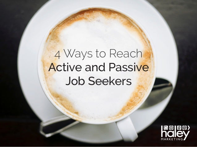 passive interest means in job application