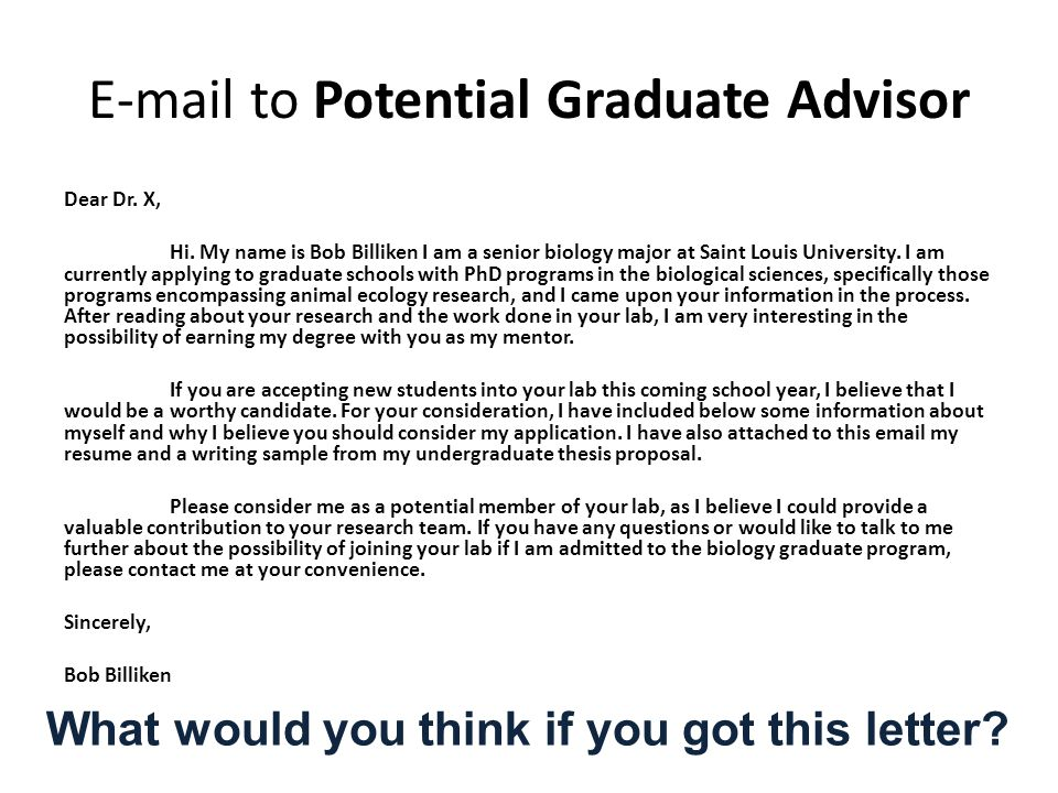 how to write a letter of application for graduate schools