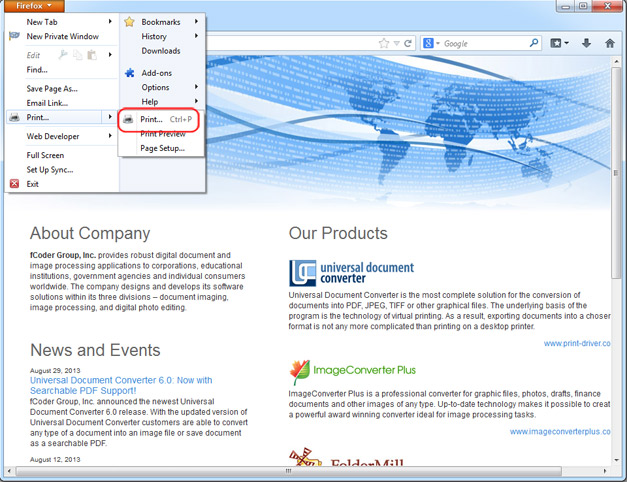 firefox convert website to application