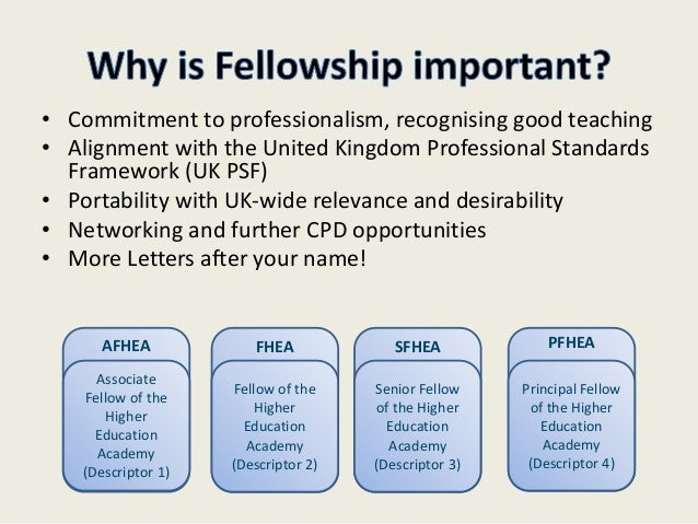 hea principal fellow application example