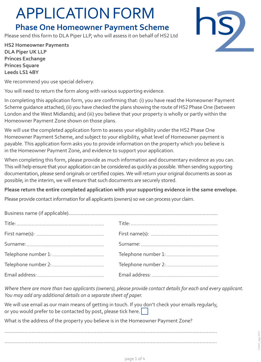 home owner grant application form