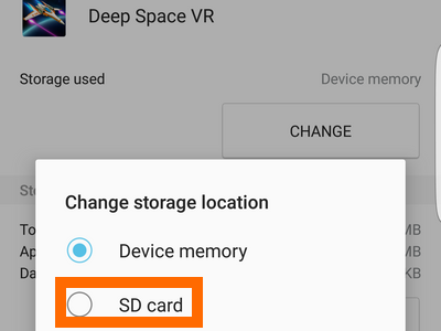 how to transfer application to sd card