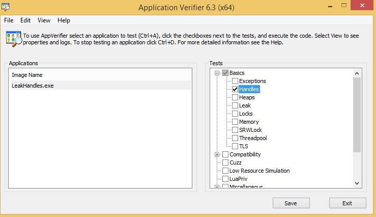 how to use application verifier