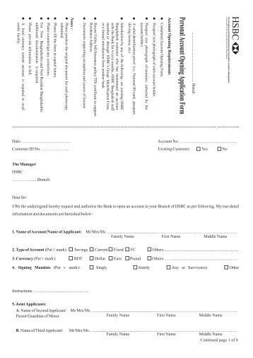 hsbc business credit card application form