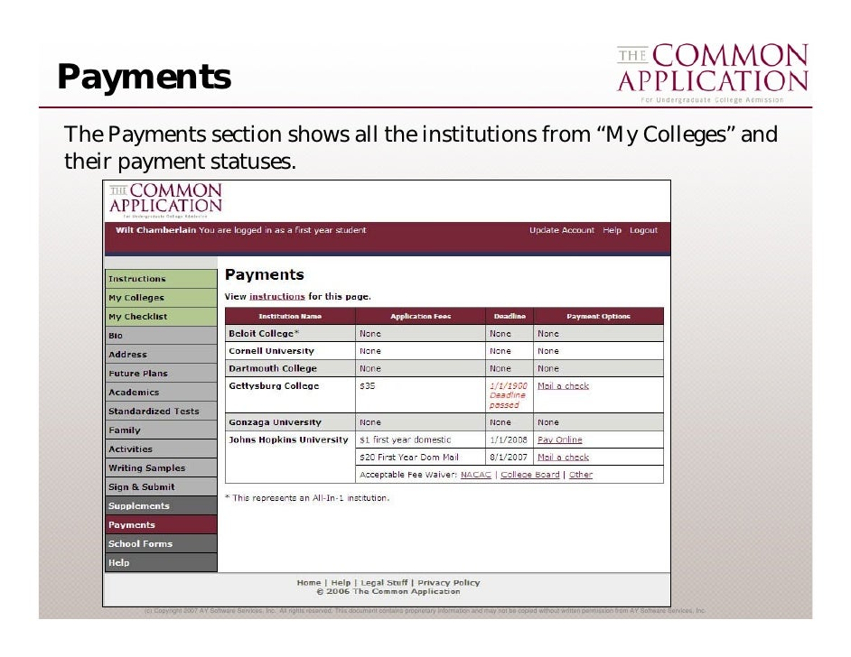 is the common application free