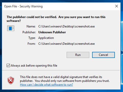 java security settings have prevented this application from running