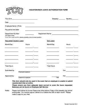 leave application due to sickness