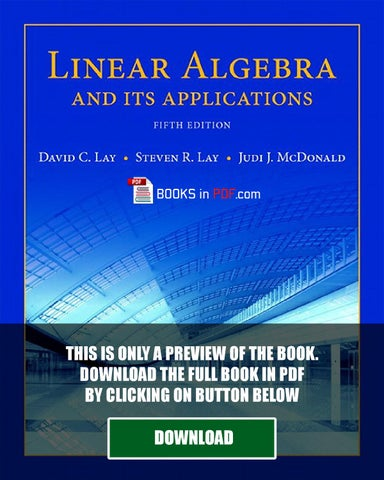 linear algebra and its applications david lay