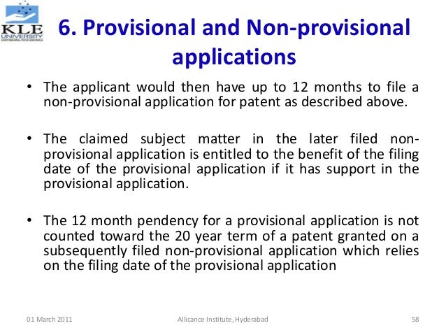 non provisional patent application fee