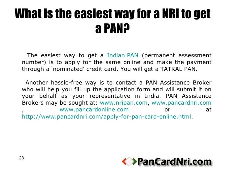 online pan card application form for nri