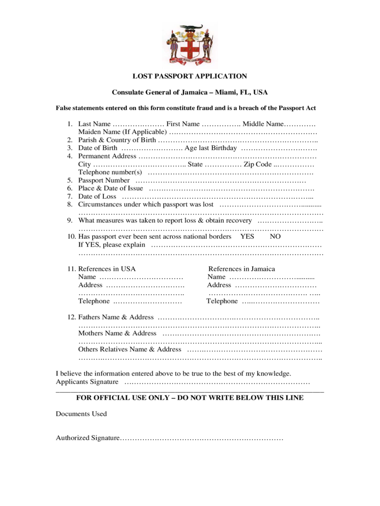 online passport application form pdf