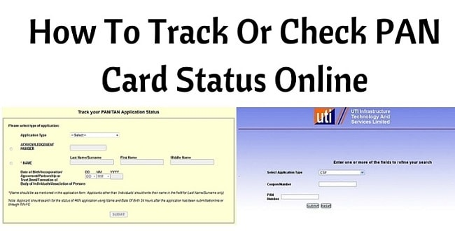 pan card application status enquiry
