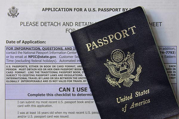 passport application form documents required