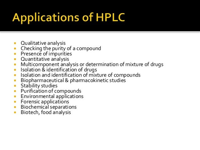 principle and application of hplc