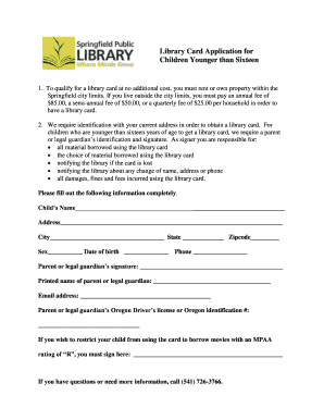 public library card application form