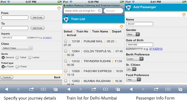 railway time table application for mobile