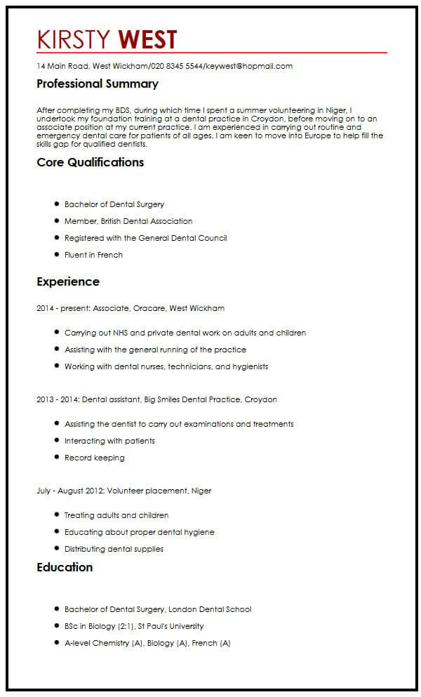 resume format for masters application