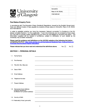 school fees exemption application form