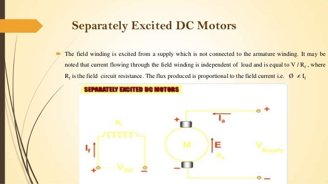 separately excited dc motor applications