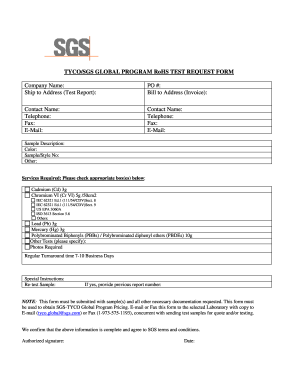 sgs textile testing application form
