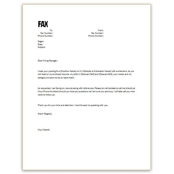 simple email for job application