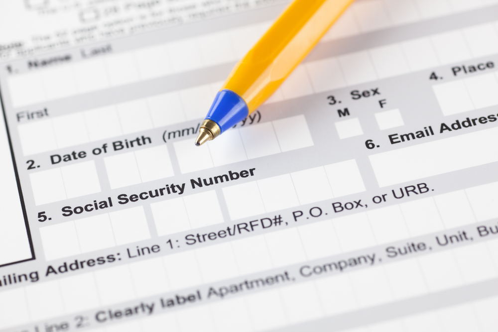 social security number application requirements